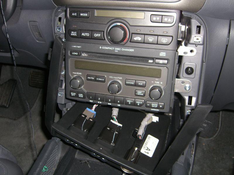 BlitzSafe Aux Input Installation On Honda Pilot EXL With Nav - 2003 acura tl aux input