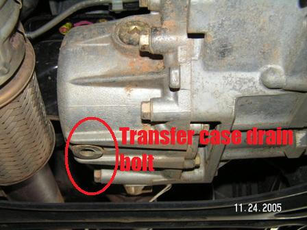 Click Image For Larger Versionname 2006 Pilot Transfer Case Drain Bolt On Bottom Left Near