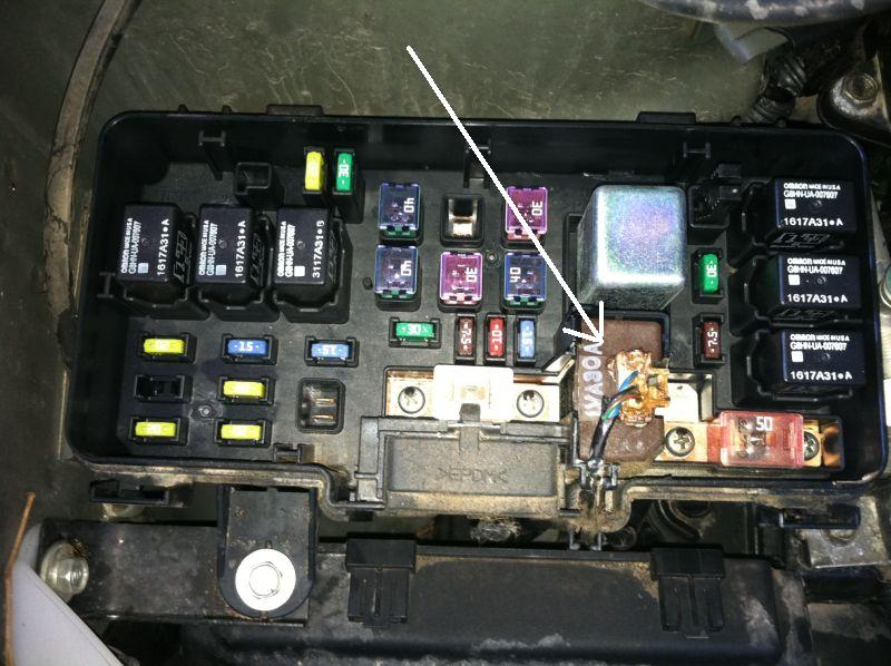 2006 trailblazer fuse box melted connector in main fuse box honda pilot honda pilot forums  melted connector in main fuse box