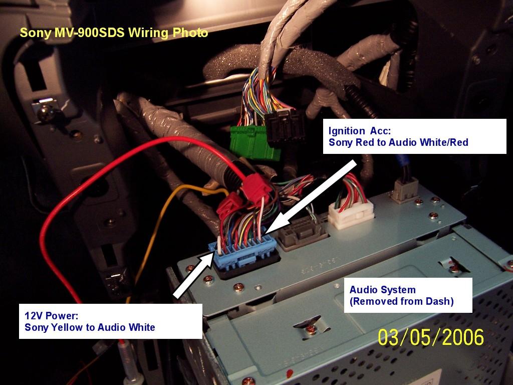 Sony Mvs 900sds Dvd Install Honda Pilot Forums In Dash Wiring Diagram 4 Audo Photo