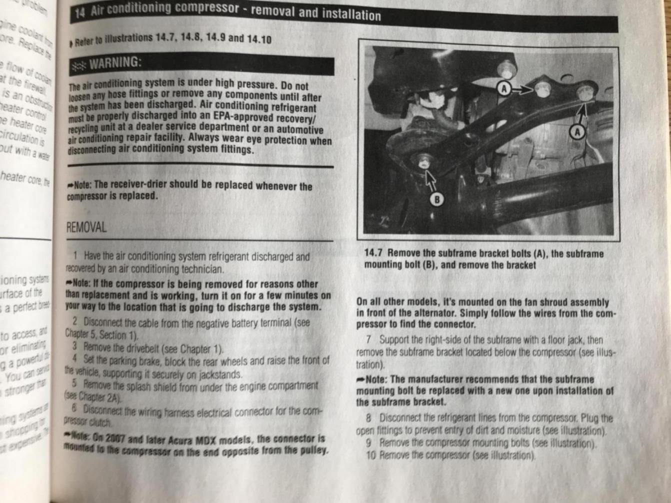 03 DIY compressor replacement guide?   Honda Pilot - Honda