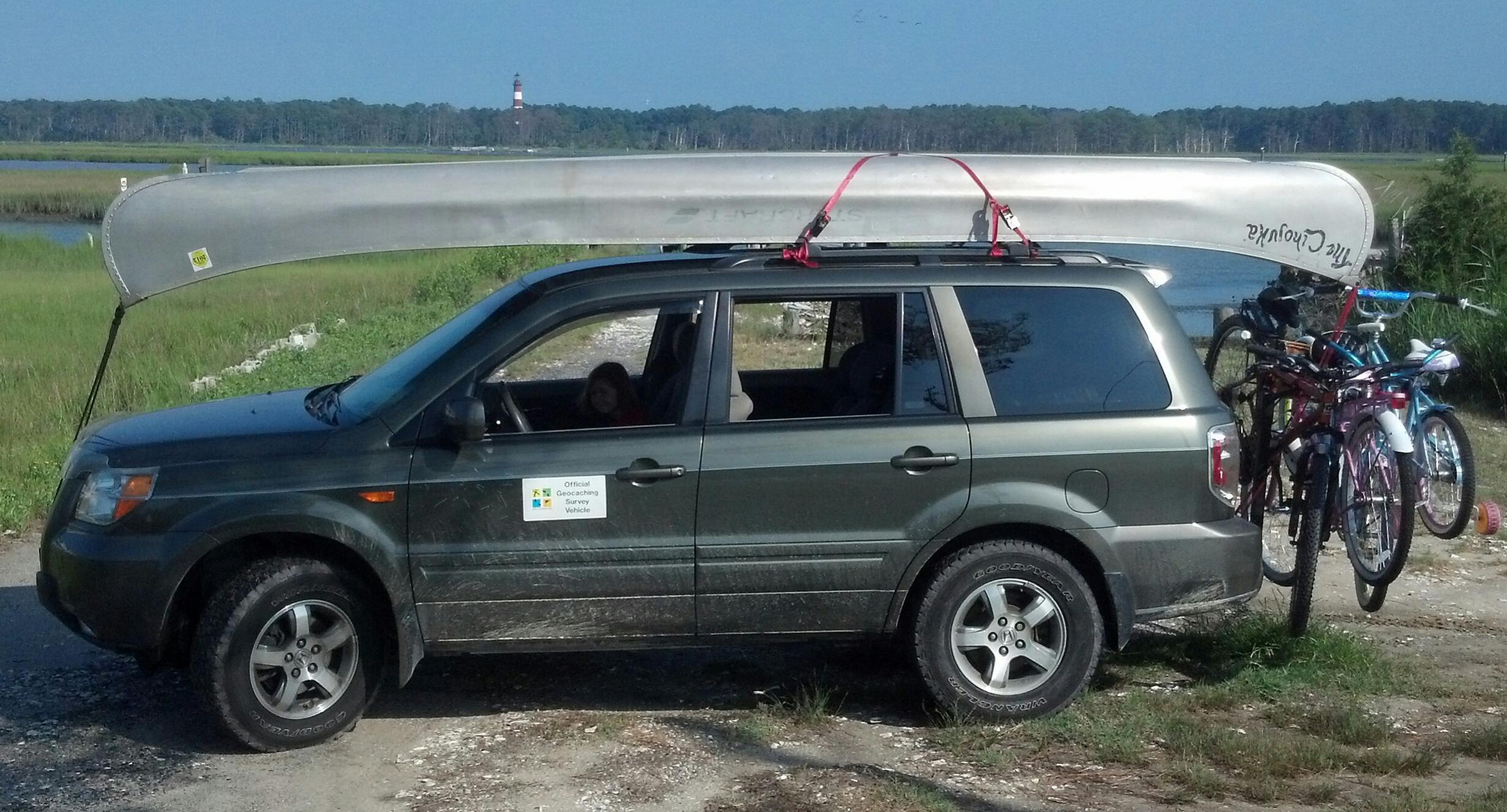 2005 2016 Honda Pilot Roof Rack Kayak Attachment Oem