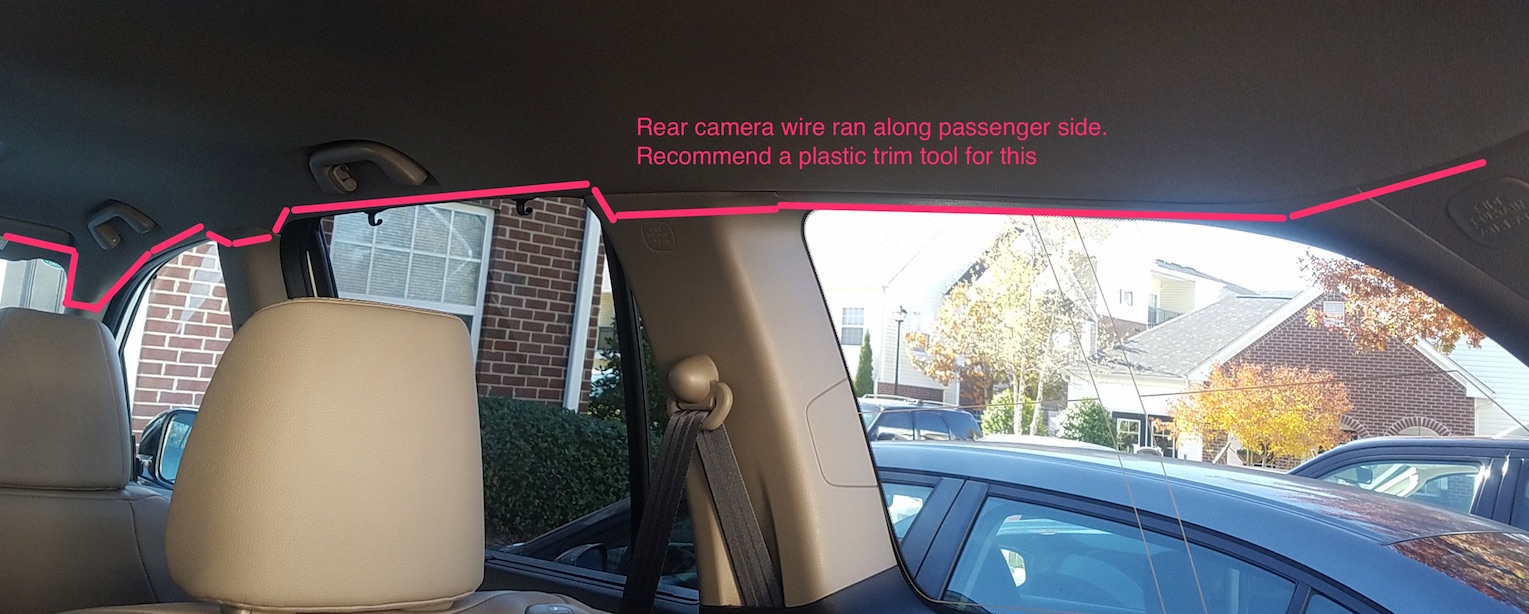 2017 Pilot Front Rear Dashcam Dash Cam Install Awd Touring Backup Camera Wiring Diagram For 07 Acura Mdx Amp