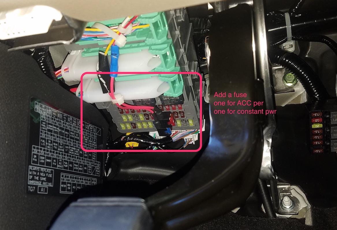 2017 Pilot Front & Rear Dashcam / Dash cam install (AWD Touring)-