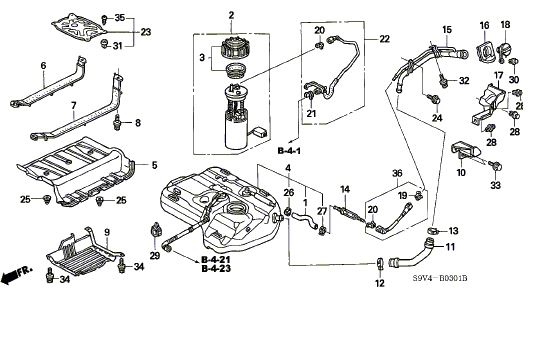 2004 honda pilot fuel pump location - wiring diagrams image free