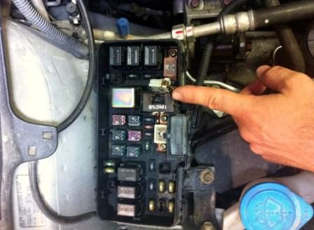Melting Wire Of Unknown Function In Under Hood Fuse Box