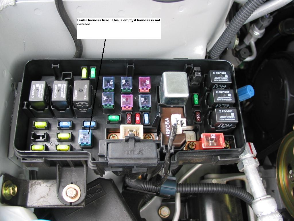 2008 honda pilot fuse box wiring diagrammelting wire of unknown function in under hood fuse box honda 2008 honda pilot