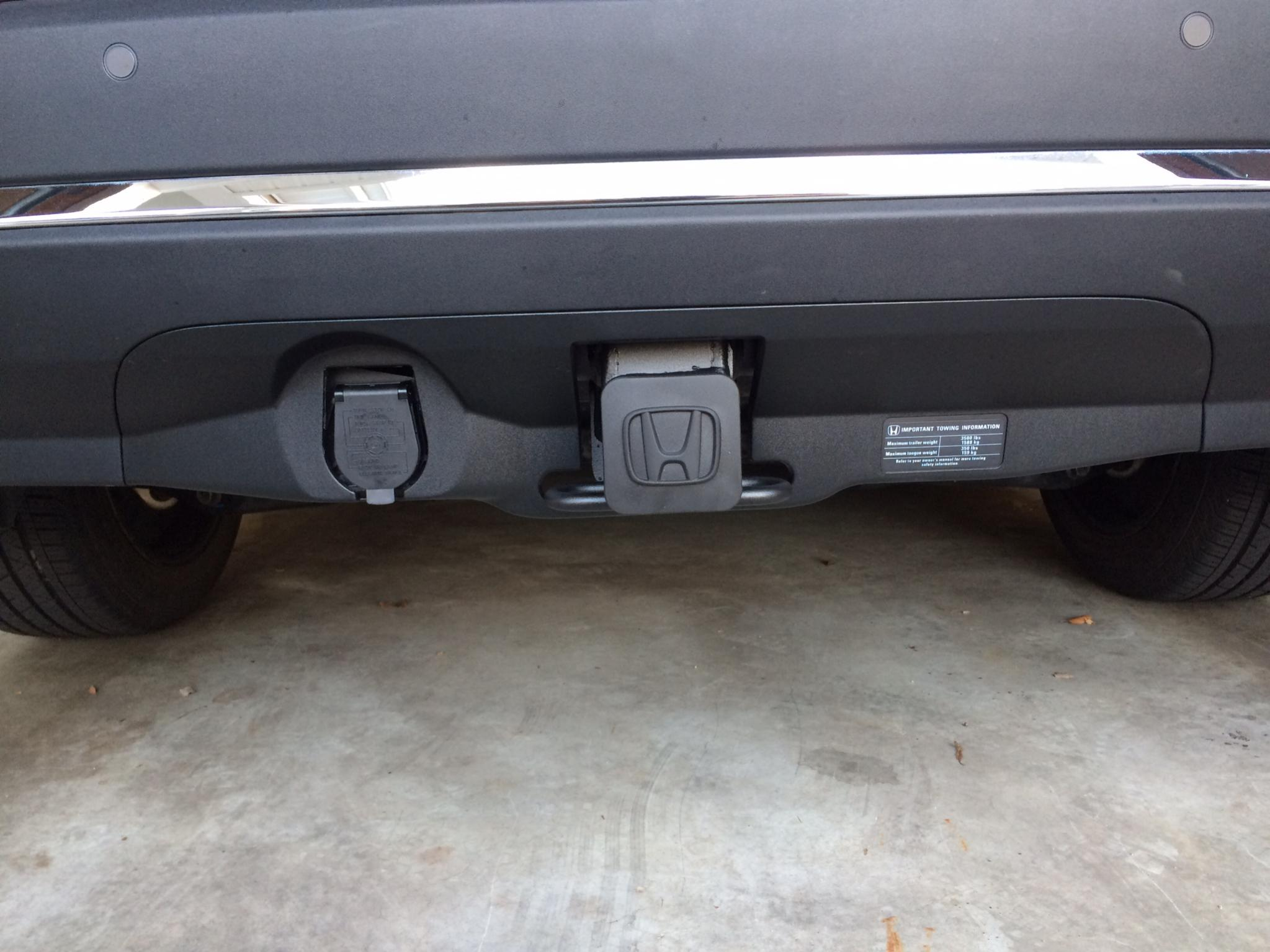installed tow hitch and trailer wire alternative to 2016 honda pilot rh piloteers org