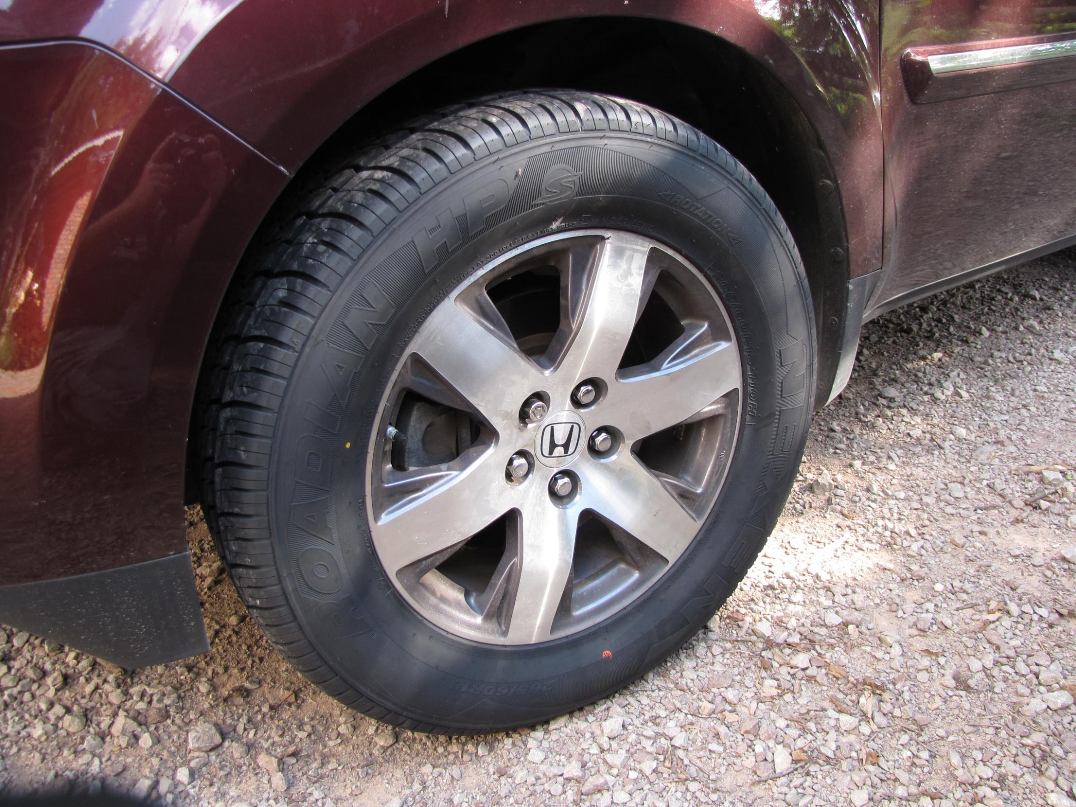 265/60R-18 Nexen Rodian HP Tires on Honda OEM 2012 Pilot Wheels DO fit! - Honda Pilot - Honda ...