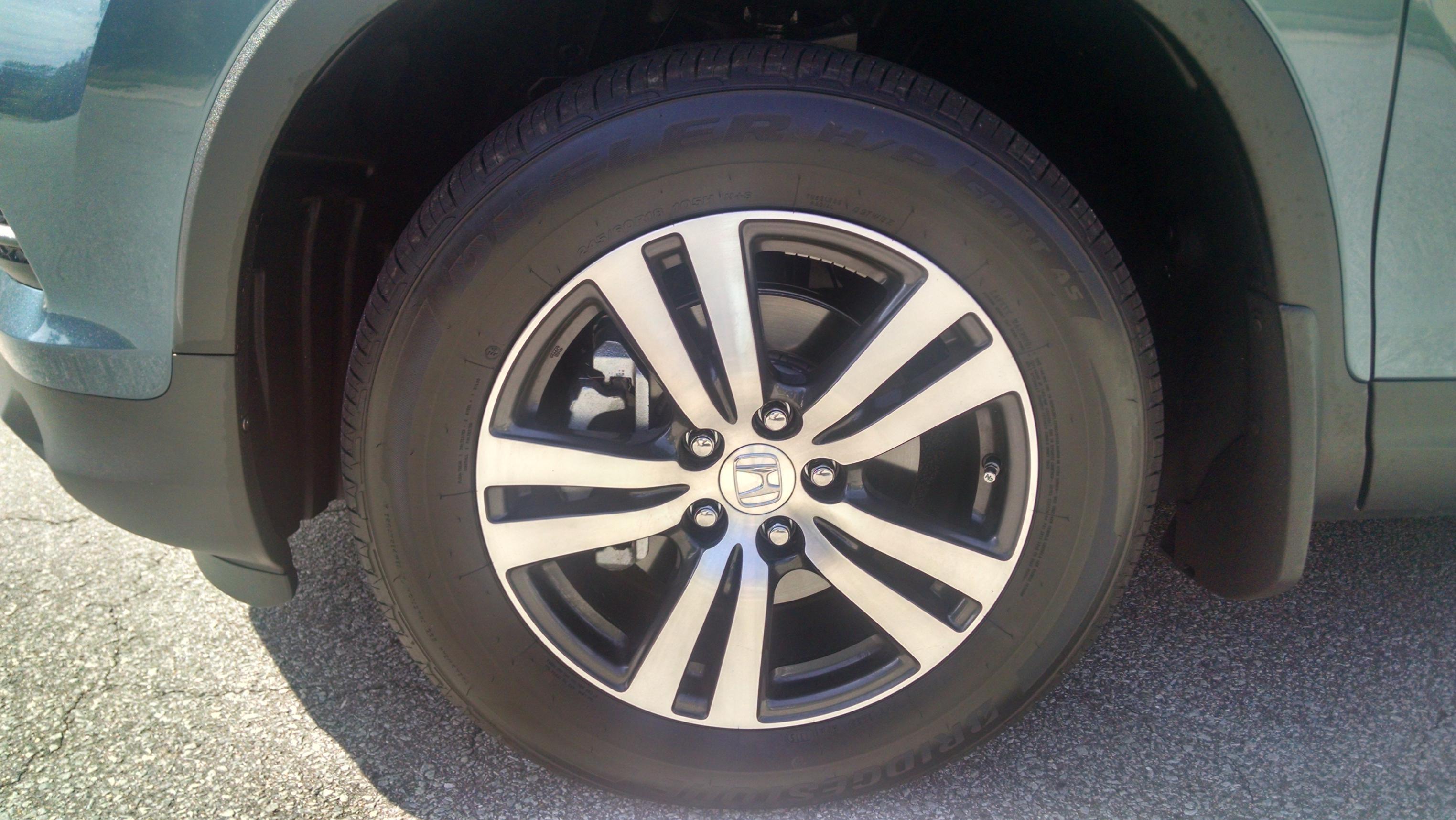 2016 pilot 18 wheels tires tpms honda pilot honda pilot forums. Black Bedroom Furniture Sets. Home Design Ideas