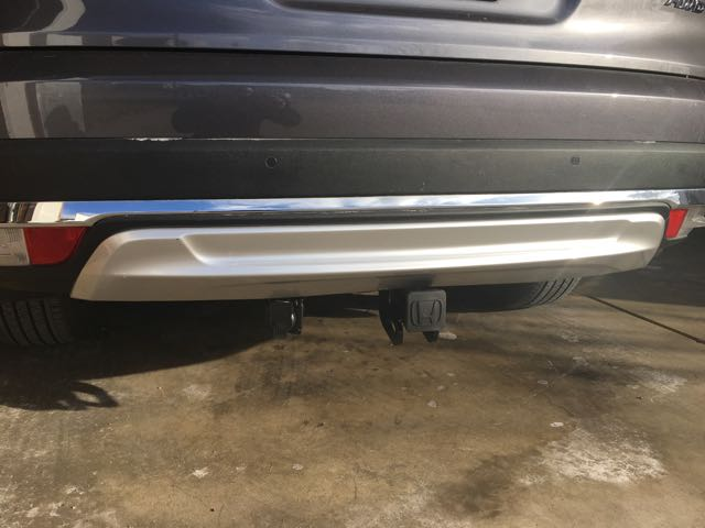 Installed Tow Hitch And Trailer Wire Alternative To 2016 Honda