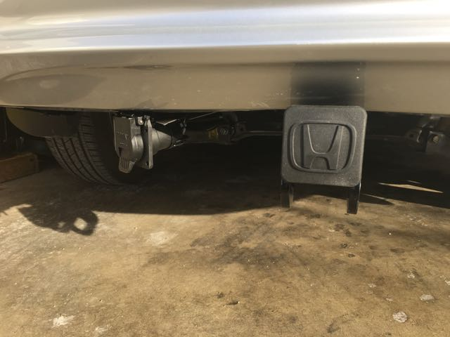 installed tow hitch and trailer wire alternative to 2016 honda pilot rh piloteers org honda ridgeline trailer wiring harness 2016 honda pilot tow wire harness