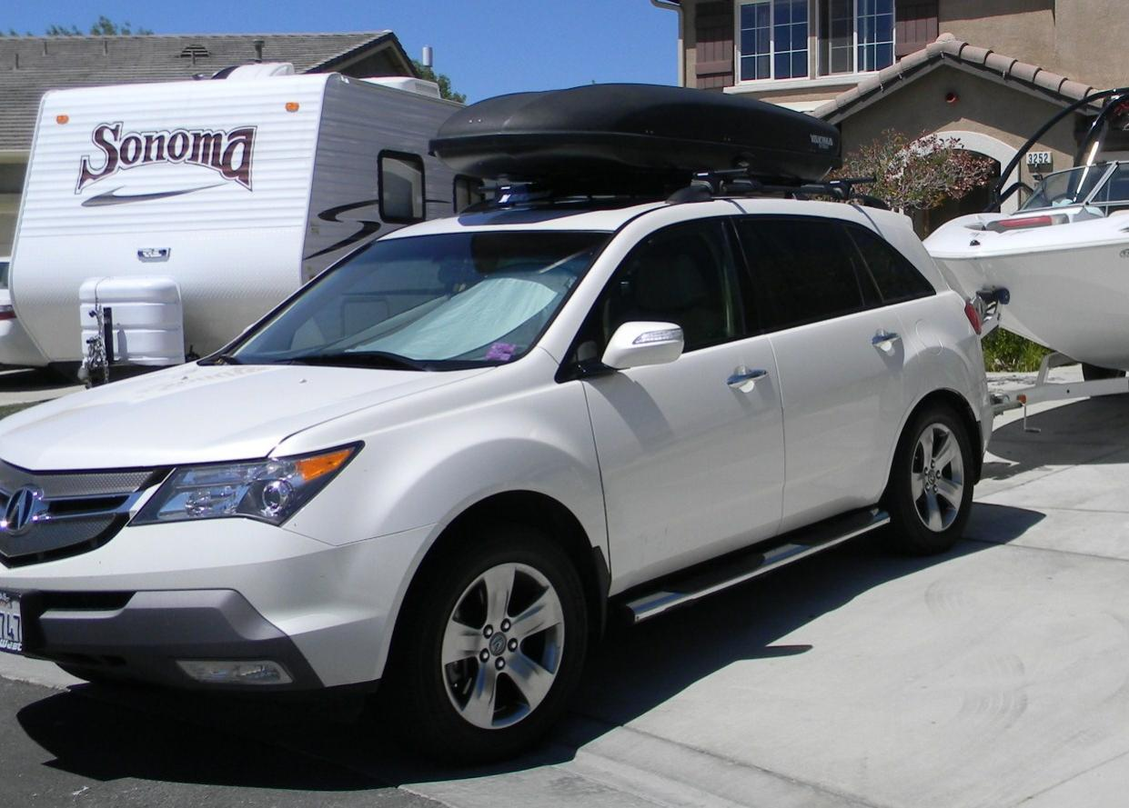 Time To Get Serious Need Rooftop Luggage Box Pilot Honda - Acura mdx roof cargo box