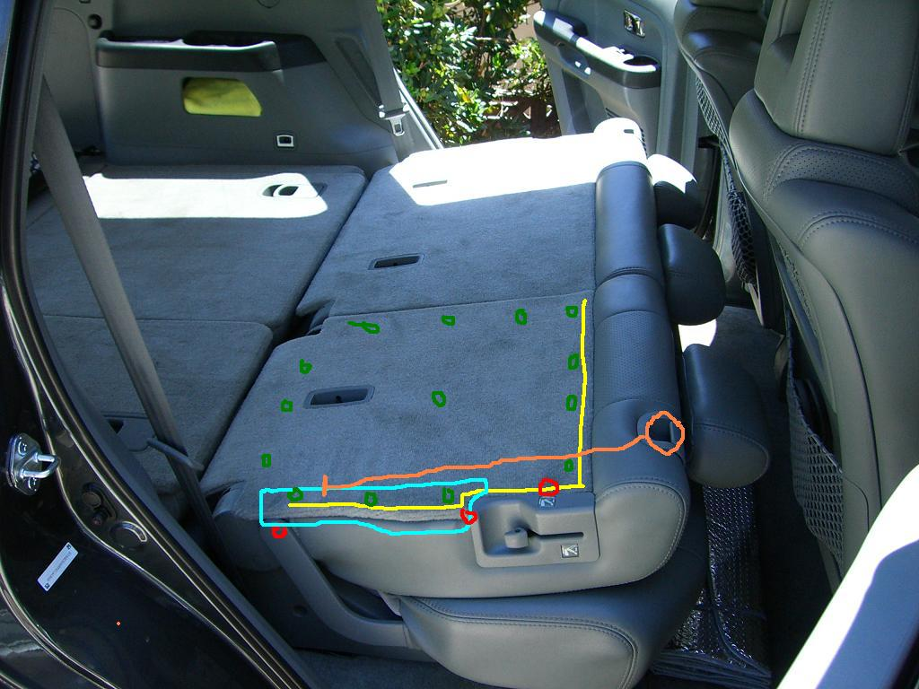 Middle Seat Latch Broken Won T Fold Down Honda Pilot