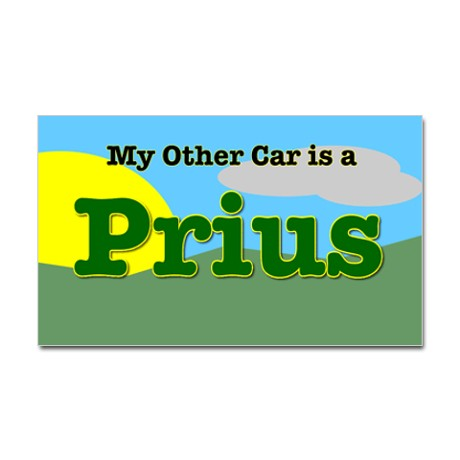 Click Image For Larger Version Name My Other Car Is A Prius Sticker Jpg Views 191 Size 24 7