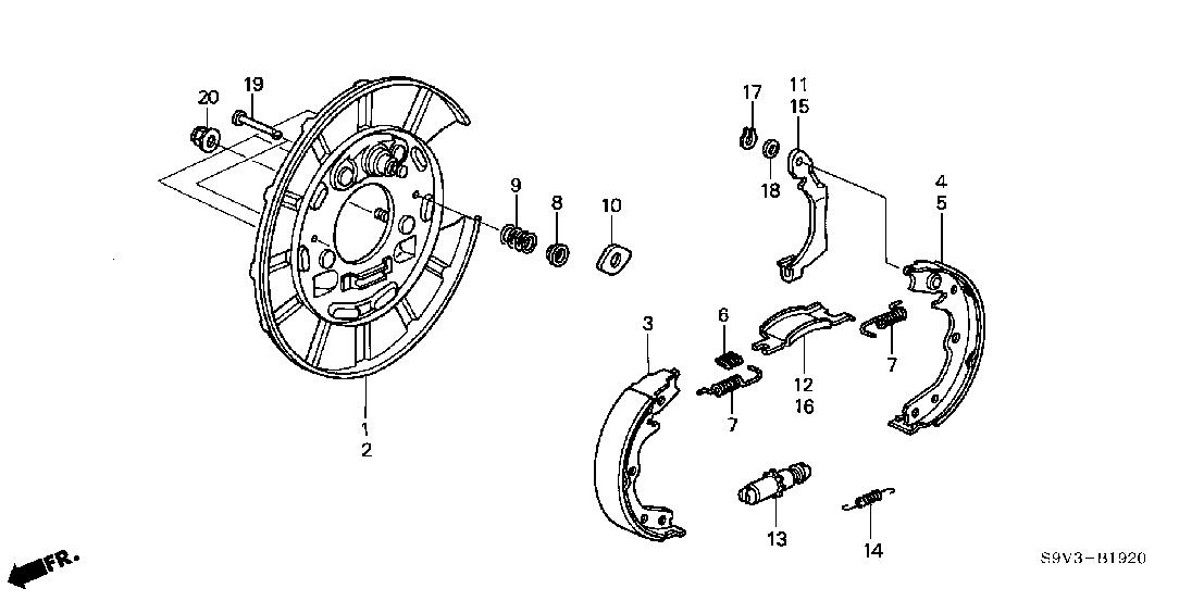 honda element parking brake diagram