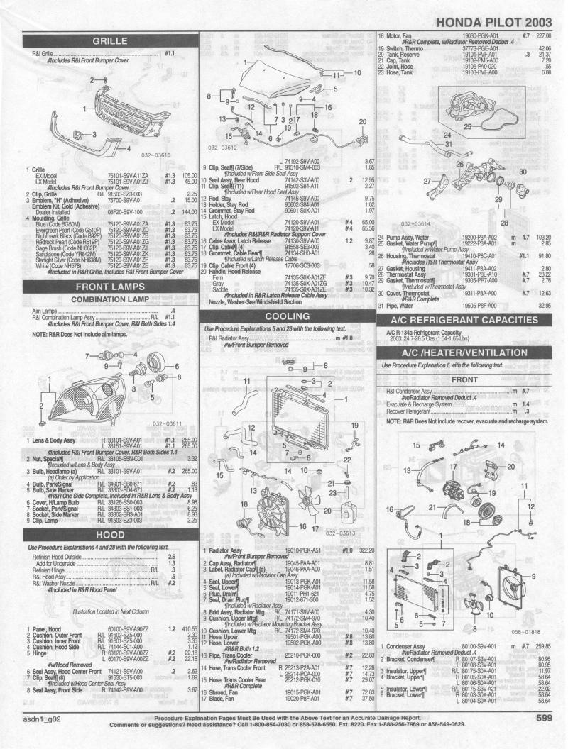 2008 Honda Pilot Parts Diagram