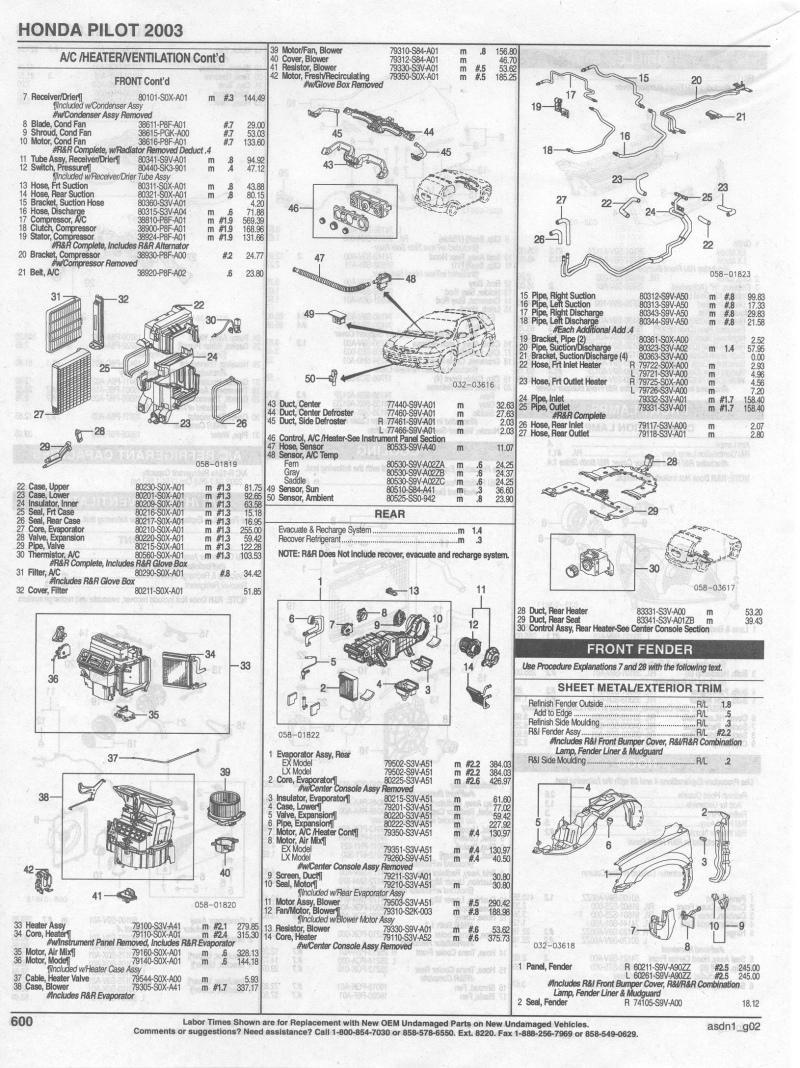 Honda Pilot Parts >> 2003 Honda Pilot Parts List Honda Pilot Honda Pilot Forums
