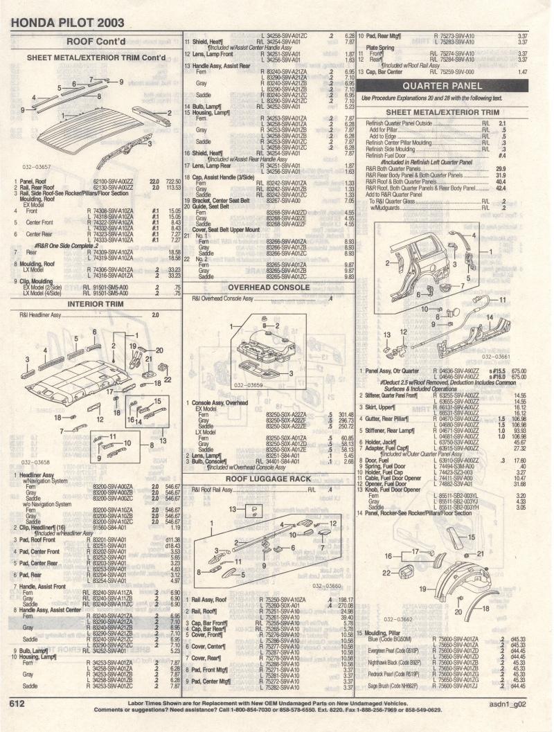 2003 Honda Pilot Parts List - Page 2 - Honda Pilot - Honda Pilot ...