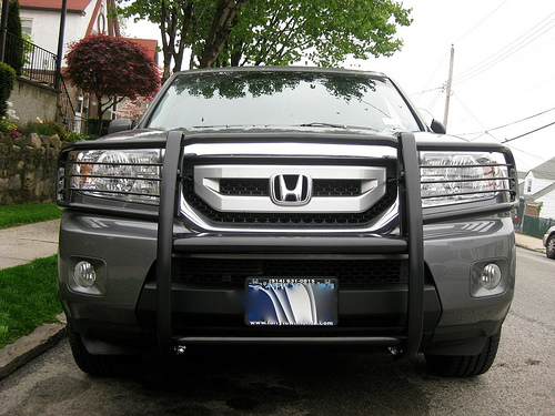 Grill Guard And Rear Bumper Guard For The 09 Pilot Honda Pilot