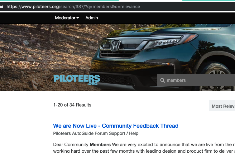 We are Now Live - Community Feedback Thread | Honda Pilot - Honda