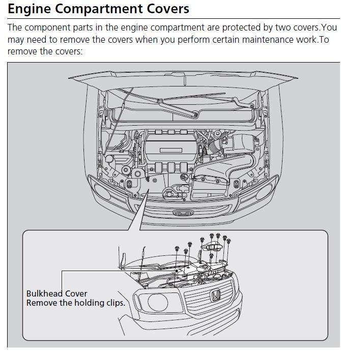 engine compartment covers honda pilot honda pilot forums rh piloteers org 2007 honda pilot engine diagram 2007 honda pilot engine diagram