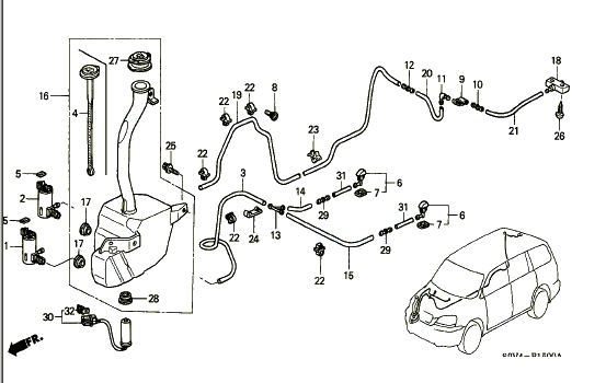 windsheild washer parts diagram 1998 honda cr v  u2022 wiring