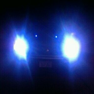 12000k HIDs and blue washer lights.